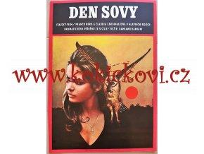 DEN SOVY - FILMOVÝ PLAKÁT A3 - 1972 - Claudia Cardinale