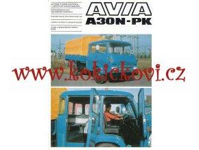 Avia A 30 N - PK - valník s prodlouženou kabinou řidiče - prospekt - Motokov