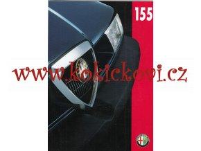 ALFA ROMEO 155 - reklamní prospekt - 8 str. A4 - texty německy - výborný stav