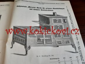 "Homboker und Marienthaler Eisenwaren-Industrie und Handels-Aktien-Gesellschaft ""Moravia"" in Olmütz – KATALOG A CENÍK KAMEN A TROUB - 1888 - KAMNÁŘSTVÍ - MORA MORAVIA"