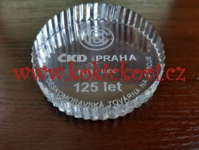 Těžítko k 125 letům ČKD PRAHA - sklo - etue - 1996 - BOHEMIA CRYSTAL - HAND MADE