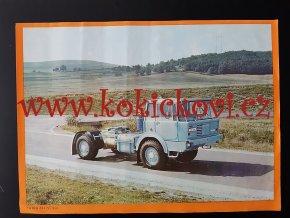 Tatra 813 NT 4*4 - REKLAMNÍ PLAKÁTEK (VĚTŠÍ A4) ROZMĚRY 23*32 CM