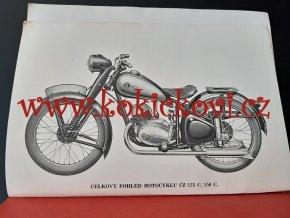 ČZ 125 c, 150 c - seznam náhradních dílů - 1951 + doplněk k seznamu