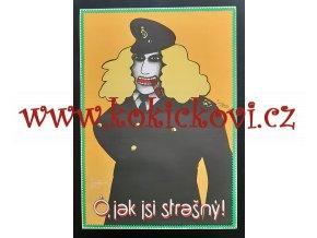 FILMOVÝ PLAKÁT A3 - Ó, JAK JSI STRAŠNÝ! - 1974