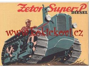 Prospekt Zetor Super P Diesel - reklamní leták / prospekt A4 - 1 list - česky