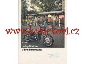 AMF HARLEY-DAVIDSON V-TWIN MOTORCYCLES - PROSPEKT A4 - 4 STRANY