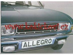 Austin Allegro 2 Range prospekt 1977 - 20 stran A4