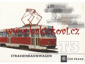 Tatra T3 tramvaj - REKLAMNÍ PROSPEKT - 1970 - A4 - 12 STRAN - TEXT NĚMECKY
