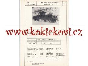 AKUMULÁTOROVÁ POSUNOVACÍ LOKOMOTIVA E 416.0 - ČSSR ŠKODA PLZEŇ - TYPOVÝ LIST