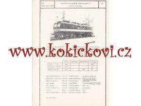 ELEKTRICKÁ UNIVERZÁLNÍ TRAŤOVÁ LOKOMOTIVA S 499.2 - ČSSR ŠKODA PLZEŇ - TYPOVÝ LIST