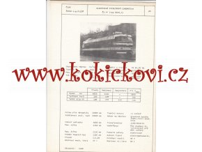 ELEKTRICKÁ RYCHLÍKOVÁ LOKOMOTIVA 62 E0.1 - ČSSR ŠKODA PLZEŇ - TYPOVÝ LIST