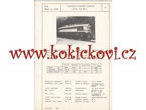 ELEKTRICKÁ RYCHLÍKOVÁ LOKOMOTIVA 68 E1 - ČSSR ŠKODA PLZEŇ - TYPOVÝ LIST