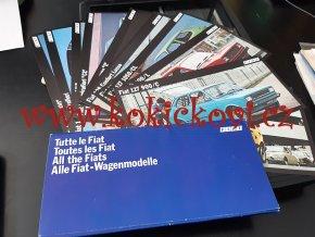 Fiat 126, 127, 128, 131, 132, -  prospekt - 18 karet - 21*10 cm soubor