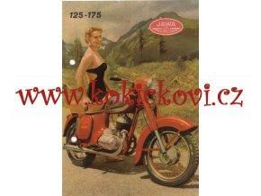 MOTOCYKL JAWA 125 A 175 PROSPEKT A5 - ORIGINÁL ROK 1956 MOTOKOV