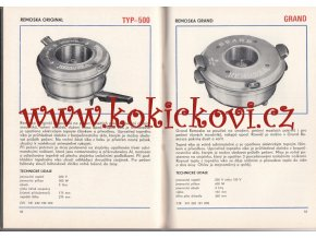 ELEKTRICKÉ SPOTŘEBIČE KATALOG 1980 TECHNOMAT - VYSAVAČE - LEDNIČKY - REMOSKY - TOPINKOVAČ