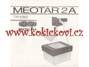 MEOTAR 2A, typ 67802 Prospekt / návod k obsluze - slovensky - MEOPTA