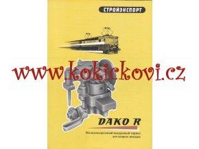 Dvoustupňová rychlíková brzda DAKO R – reklamní prospekt A4 – rusky – 4 strany -1959