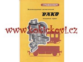Brzda DAKO R – reklamní prospekt A4 – rusky – 4 strany -1959