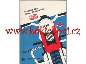 JAWA 350 - 634 - 8 - 15/90/60 - NÁVOD K OBSLUZE - 1979 - ORIGINÁL - TEXTY RUSKY - MOTOKOV