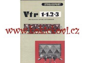 Dvounápravový vysokostěnný otevřený nákladní vůz s brzdařskou plošinkou Vtr - reklamní prospekt - A4 - 12 stran - 1957 - Strojexport