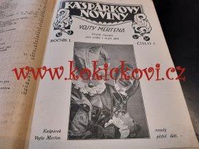 Kašpárkovy noviny 1. ročník  – 10 čísel včetně obálek Frant. Homolka - 1932 - 160 str. Frant. Homolka, J. Hokr, 1932, pěkný čistý stav.