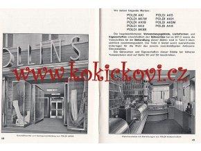 HUŤ POLDI - POLDI HUTTE - ANTIKOROZNÍ OCEL - A5 - REKLAMNÍ PUBLIKACE 1936
