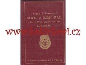 Uliční a jízdní řád pro hlavní město Prahu 1931 - krásný stav