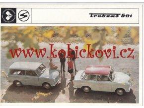 Trabant 601 - 1971 - reklamní prospekt - 8 STRAN - A4 - česky