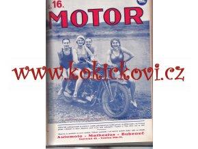 ČASOPIS MOTOR - ROČNÍK IX / 1930 - KOMPLET 24 ČÍSEL VČETNĚ OBÁLEK - JAWA - BSA - AERO - TERROT - BMW