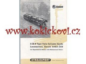 LOKOMOTIVY ŠKODA STROJEXPORT ČSD - 556.0, 475.1, 932.3, 498.1, 935.0 - REKLAMNÍ PROSPEKT A4 - 6 STRAN
