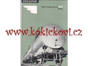 4NÁPRAVOVÝ CISTERNOVÝ VŮZ O OBSAHU 240 hl - REKLAMNÍ PROSPEKT A4 z roku 1956 - 4 STRANY