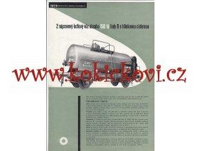2NÁPRAVOVÝ KOTLOVÝ VŮZ S CISTERNOU O OBSAHU 150 hl - REKLAMNÍ PROSPEKT A4 z roku 1956 - 2 STRANY