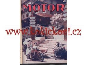 ČASOPIS MOTOR - ROČNÍK IX / 1931 - KOMPLET 24 ČÍSEL VČETNĚ OBÁLEK - JAWA - BSA - AERO - TERROT - BMW