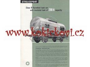 4NÁPRAVOVÝ CISTERNOVÝ VŮZ O OBSAHU 200 hl - REKLAMNÍ PROSPEKT A4 z roku 1956 - 2 STRANY