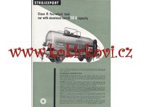 4NÁPRAVOVÝ CISTERNOVÝ VŮZ O OBSAHU 150 hl - REKLAMNÍ PROSPEKT A4 z roku 1956 - 2 STRANY