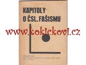 KAPITOLY O ČSL. FAŠISMU - NOVINA 1932