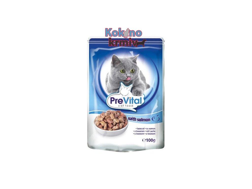 Prevital kapsičky pro kočky - losos 100g