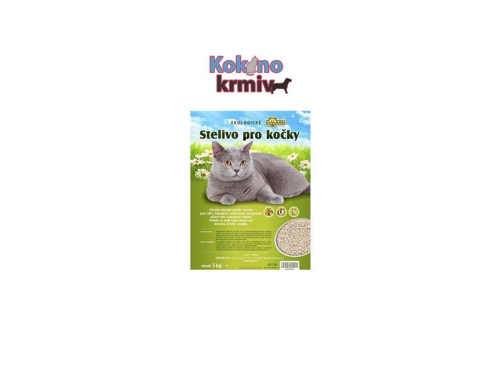 Stelivo pro kočky-dřevěné peletky 5kg