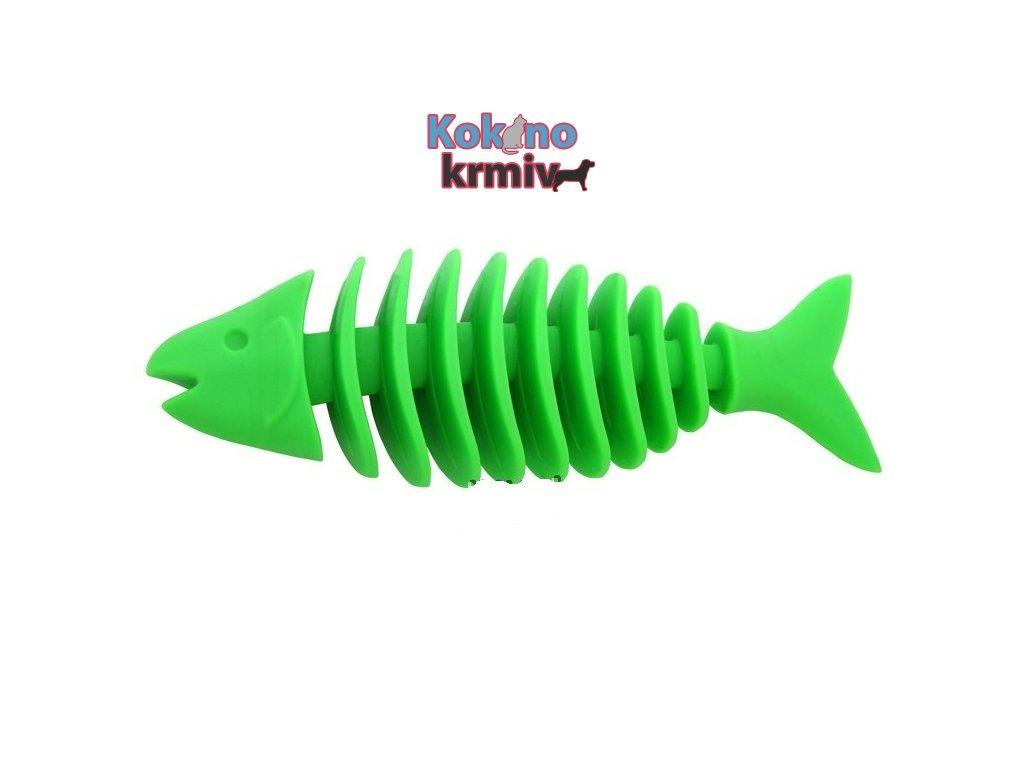 Rybí kostra vonící velká 16cm - ZELENÁ