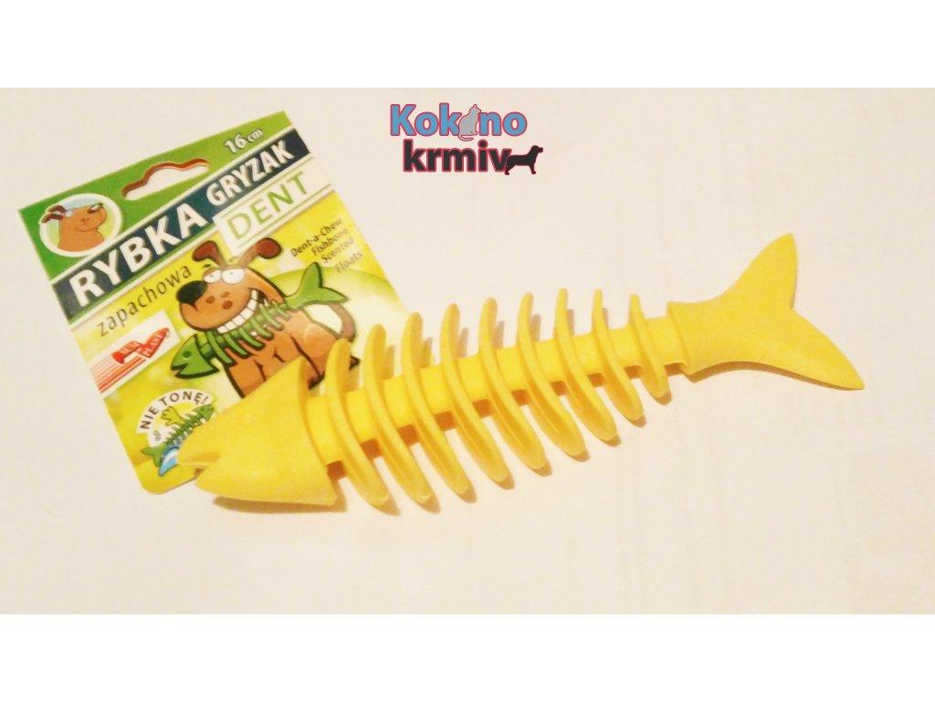 Rybí kostra vonící velká 16cm -ŽLUTÁ
