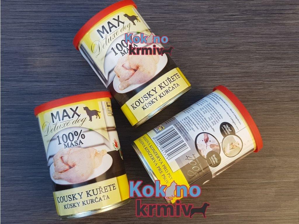 konzerva pro psy Max deluxe