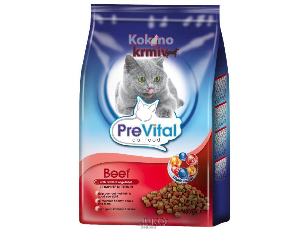 PreVital granule kočka hovězí se zeleninou 0,4kg