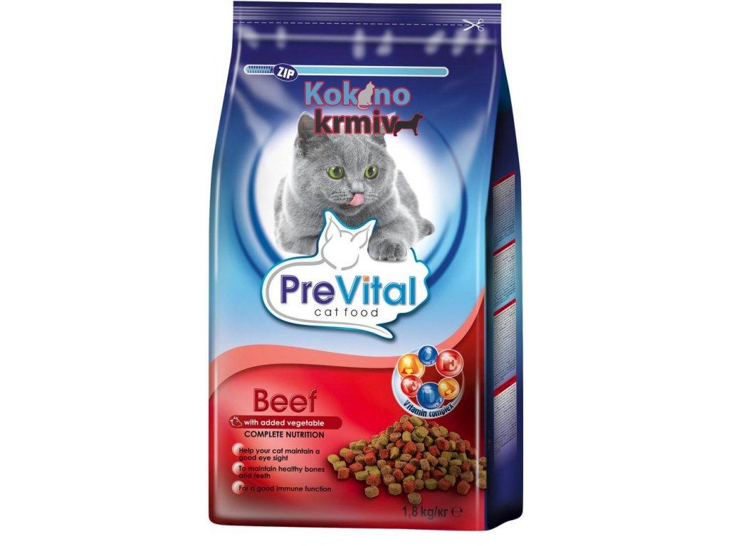 PreVital Cat 1,8kg hovězí+zelenina