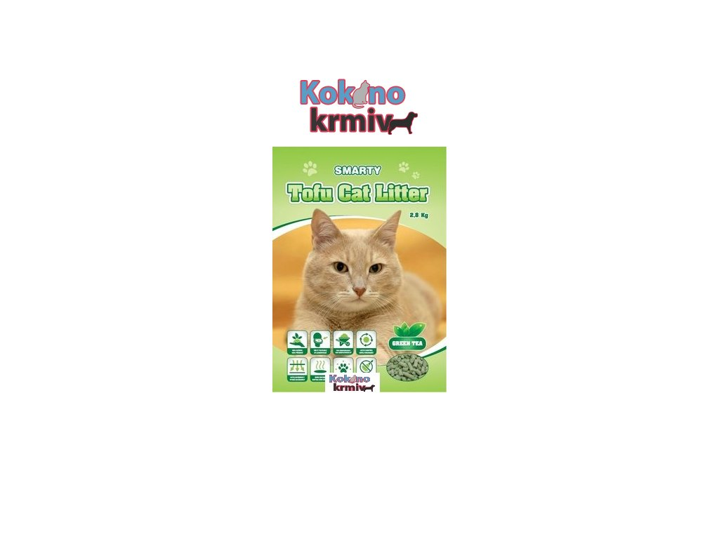 Smarty Tofu Cat Litter-Green Tea-podestýlka 6lt.