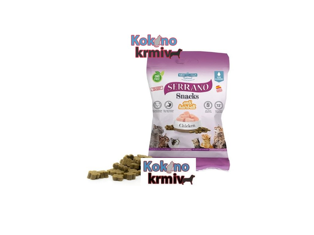 Serrano Snack for Cat-Chicken-AntiHairball 50g