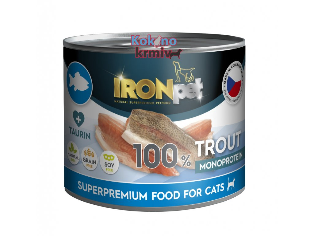 IronPet CAT Pstruh 200g