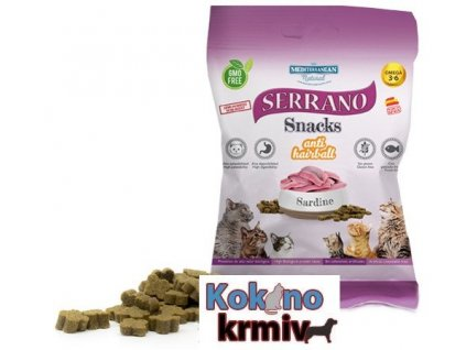 Serrano Snack for Cat-Sardine-AntiHairball 50g