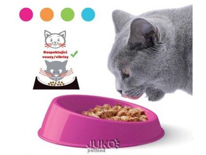 Speciální miska pro kočky big zelenožlutá