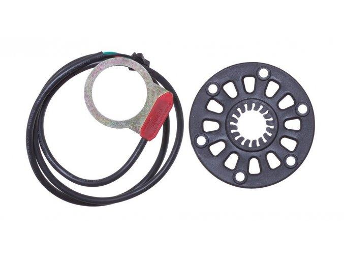 Snímač otáčení pedálů s magnetickým kroužkem