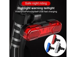 360 rotating bicycle tail light USB charging warning light (1)
